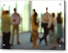 Business People Acrylic Print by Johnny Greig