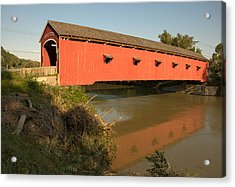 Acrylic Print featuring the photograph Buskirk Covered Bridge by Steven Richman
