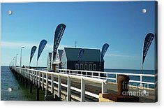 Busselton Jetty Acrylic Print by Therese Alcorn