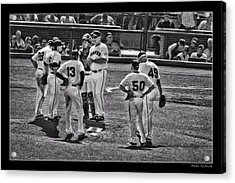 Buster Posey Ryan Theriot Joaquin Arias Hector Sanchez Bruce Bochy Javier Lopez Conor Gillaspie   Acrylic Print