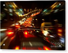 Busy Highway Acrylic Print by Carlos Caetano