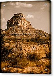 Chaco Canyon, New Mexico - Butte Acrylic Print