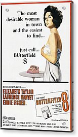 Butterfield 8, Elizabeth Taylor, 1960 Acrylic Print by Everett