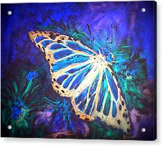 Acrylic Print featuring the mixed media Butterfly Beauty 2 by Raymond Doward