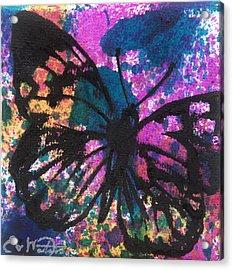 Butterfly Bliss Acrylic Print by Oddball Art Co by Lizzy Love