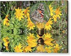 Butterfly In A Bulb II - Landscape Acrylic Print