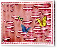 Butterfly Kisses Acrylic Print by Bill Cannon