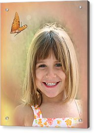 Butterfly Smile Acrylic Print