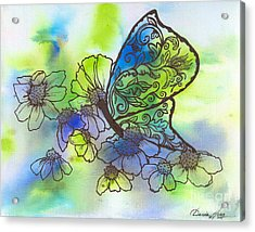 Butterfly Transformations Acrylic Print by Denise Hoag