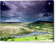 Butterley Reservoir Acrylic Print by Andy Leader Www.madeinholmfirth.co.uk
