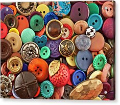 Buttons Acrylic Print by Jeff Suhanick