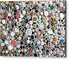 Buttons Acrylic Print by Rolfo