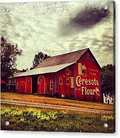 Buy Flour. #barn #pa #pennsylvania Acrylic Print by Luke Kingma