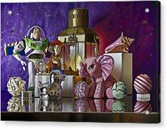 Buzz With Pink Elephant Acrylic Print by Tony Chimento