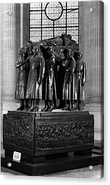 Bw France Paris Invalides Marshal Foch Tomb 1970s Acrylic Print by Issame Saidi