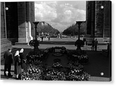Bw France Paris Triumphal Arch Unknown Soldier 1970s Acrylic Print by Issame Saidi
