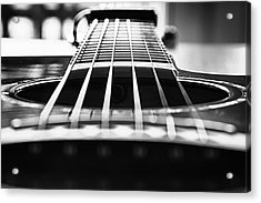 Bw Guitar Acrylic Print by Javier Luces
