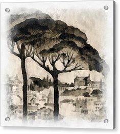 By Italy Acrylic Print by Odon Czintos