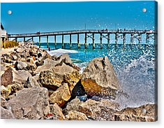 By The Pier Acrylic Print by Betsy Knapp