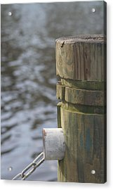 By The River Acrylic Print by Lou Belcher