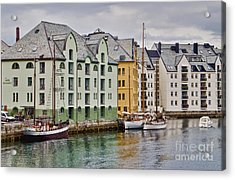 By The Waterside Alesund Norway Acrylic Print