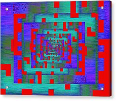 Byte Byway Acrylic Print by Tim Allen
