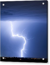 C2g Lightning Strike Acrylic Print by James BO  Insogna