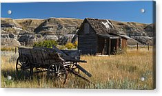 Cabin And Wagon Alberta  Acrylic Print