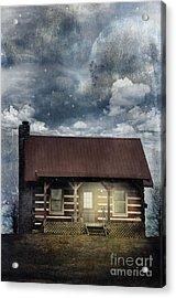 Cabin At Night Acrylic Print