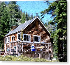 Acrylic Print featuring the photograph Cabin By The Lake by Anne Raczkowski
