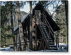 Acrylic Print featuring the photograph Cabin Get Away by Tikvah's Hope