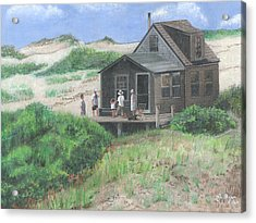 Cabin In The Dunes Acrylic Print