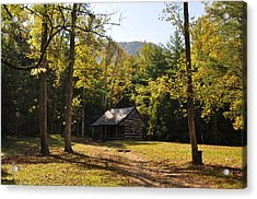 Cabin In The Smokies Acrylic Print by Jeff Moose
