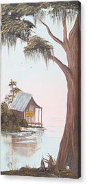 Cabin In The Swamp Acrylic Print by Mary Matherne