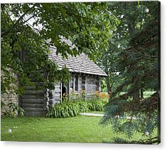 Cabin In The Woods - Little House Wayside Acrylic Print by George Hawkins
