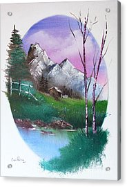Cabin In The Woods Acrylic Print by Crispin  Delgado