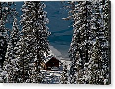 Cabin In The Woods Acrylic Print by Mitch Shindelbower