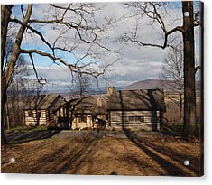 Cabin In The Woods Acrylic Print by Robert Margetts