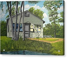 Cabin Up North Acrylic Print by Norm Starks