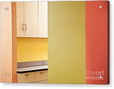 Cabinets In An Office Supply Room Acrylic Print by Jetta Productions, Inc