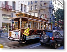 Acrylic Print featuring the photograph Cable Car by Rod Jones