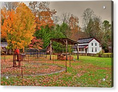 Cable Mill Yard II Acrylic Print by Charles Warren