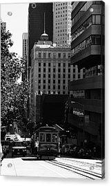 Cablecar On San Francisco California Street . Bw . 7d7176 Acrylic Print by Wingsdomain Art and Photography