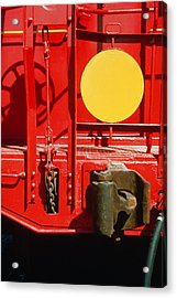 Caboose Acrylic Print by Jan W Faul