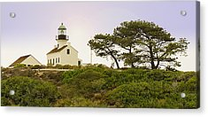 Acrylic Print featuring the photograph Cabrillo National Park Lighthouse by MaryJane Armstrong