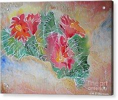 Cactus Art Acrylic Print by M C Sturman