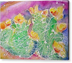 Cactus Color Acrylic Print by M C Sturman