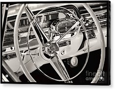 Cadillac Control Panel Acrylic Print by Miso Jovicic