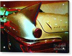 Cadillac Eldorado . Painterly Style Acrylic Print by Wingsdomain Art and Photography