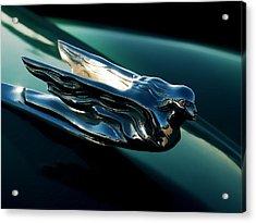Cadillac Hood Angel Acrylic Print by Douglas Pittman